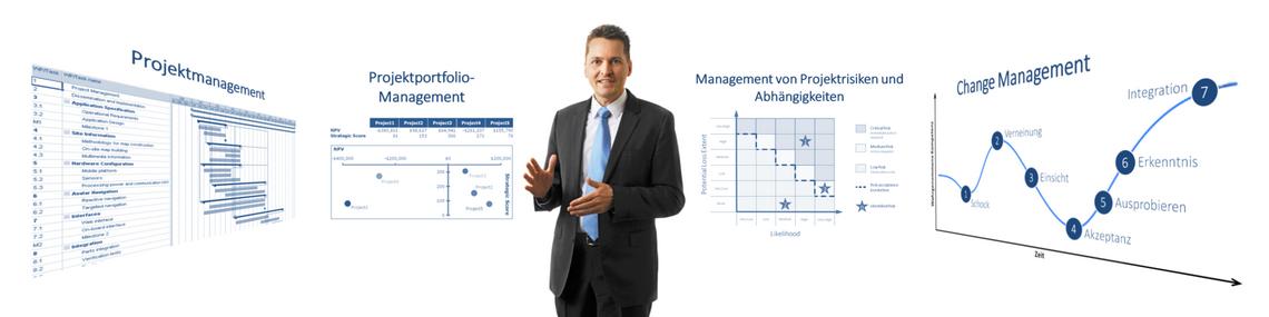 Dienstleistungen Projektportfoliomanagement und Projektmanagement
